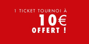 Joa Poker : Ticket de tournoi 10€ offert