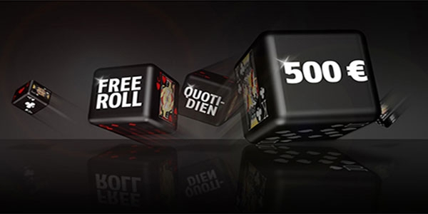 Freerolls quotidiens 500€ de Bwin Poker