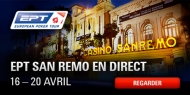 Suivez en direct le Streaming live de l'EPT San Remo 2014