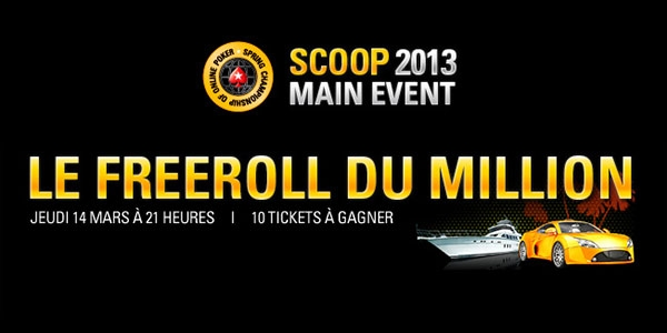 Freeroll du Million sur PokerStars